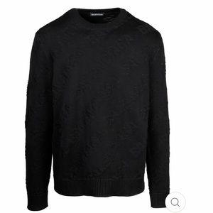 Balenciaga Black Logo Men's Sweater